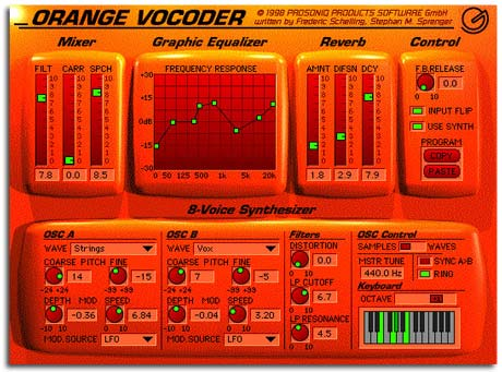 Orange Vocoder Software Plugin